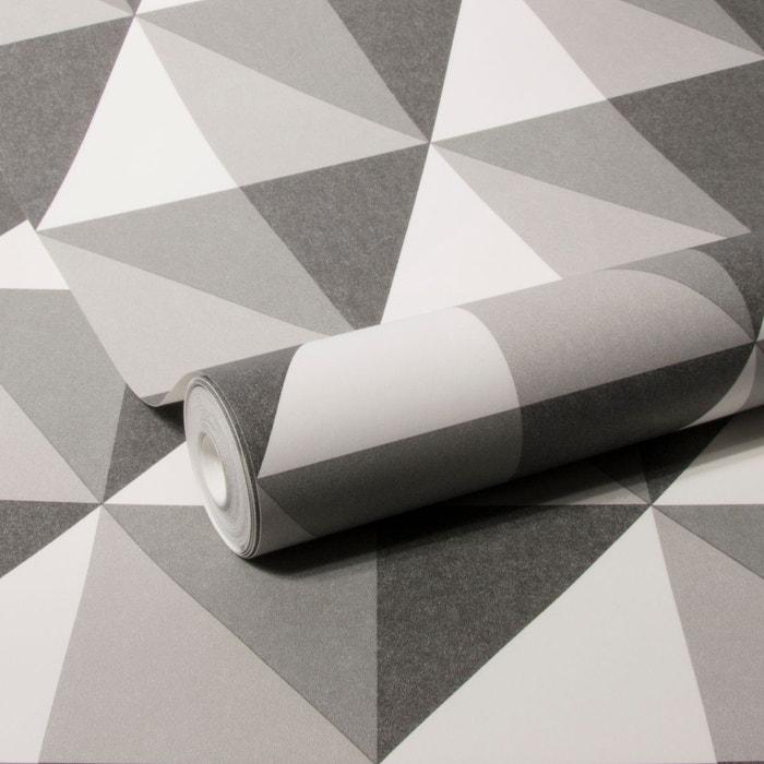 Geo Triangle Graphique Papier Peint Gris Vert Papier Peint Intisse