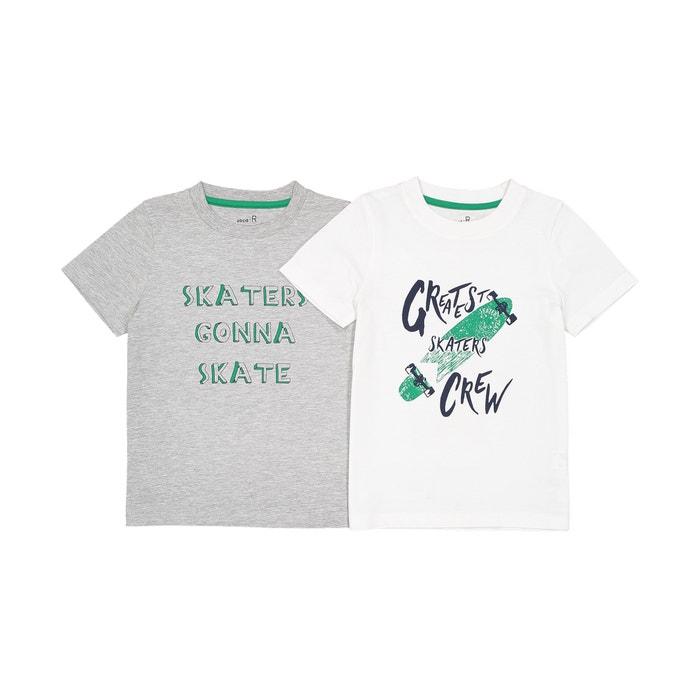 Lot de 2 t-shirts 3-12 ans  La Redoute Collections image 0