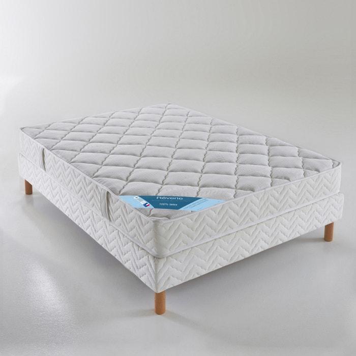 ensemble matelas latex sommier blanc reverie la redoute. Black Bedroom Furniture Sets. Home Design Ideas