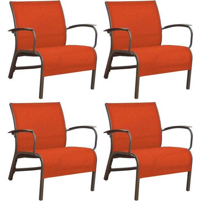 Fauteuil lounge en aluminium linea (lot de 4) Proloisirs | La Redoute