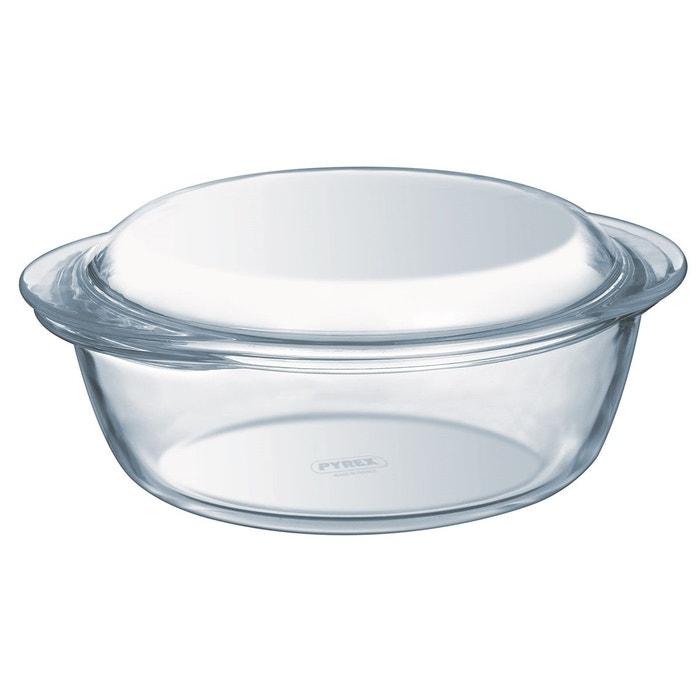 cocotte four ronde en verre 1l transparent pyrex la redoute. Black Bedroom Furniture Sets. Home Design Ideas