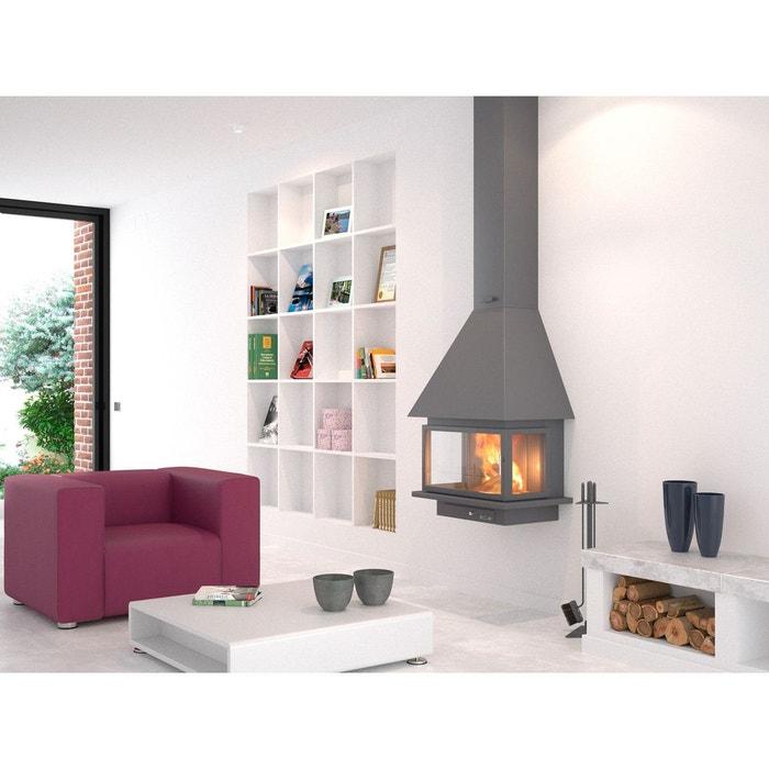 chemin e m tallique murale suspendue scoria s 12 kw ch57 f10 pc focgrup la redoute. Black Bedroom Furniture Sets. Home Design Ideas