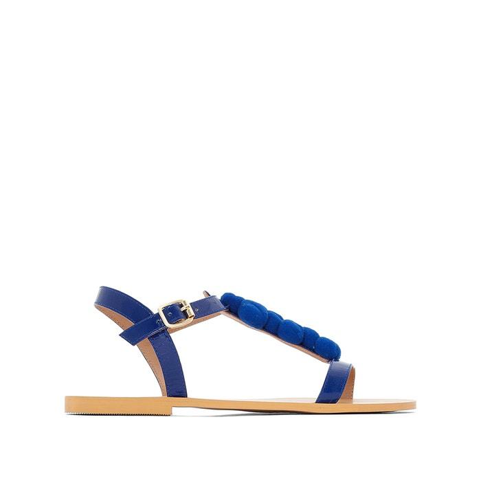 Sandali in pelle dettaglio pompons  MADEMOISELLE R image 0