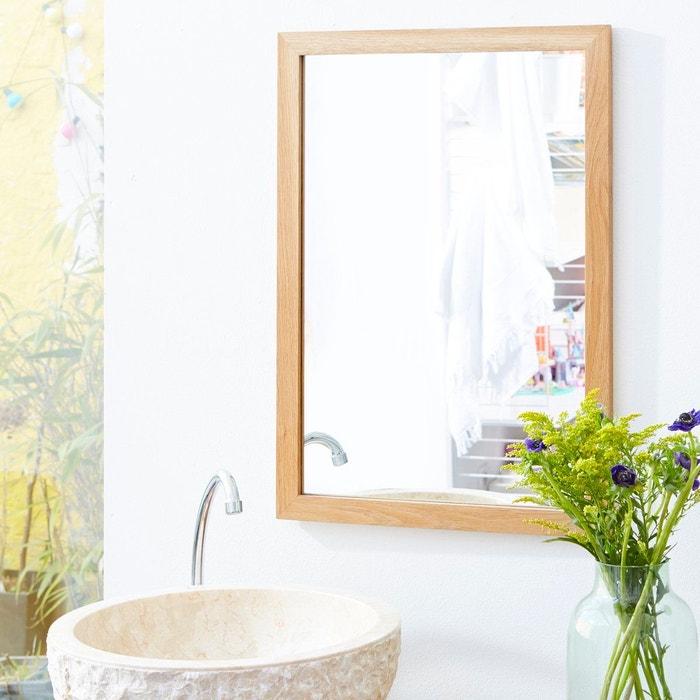 Miroir En Bois De Chene Serena Oak 70x50