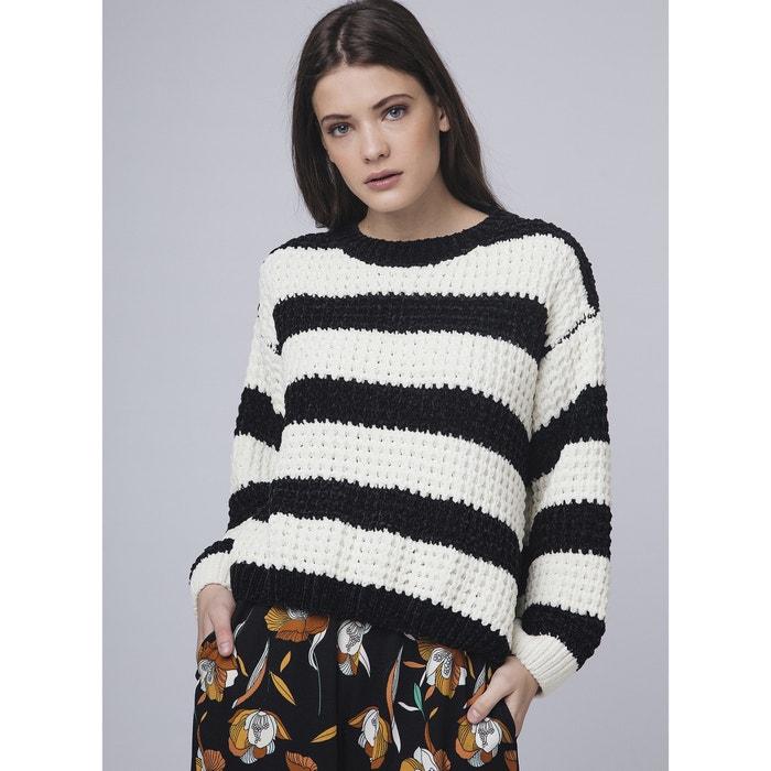 fceb4a4dc917 Jersey a rayas de punto de seda rayas negro/blanco Compania Fantastica   La  Redoute