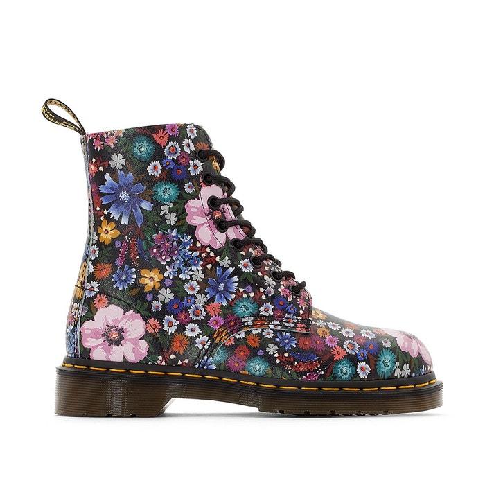 f8f2b4f8f955 Boots cuir à lacets pascal wl imprimé fleuri Dr Martens