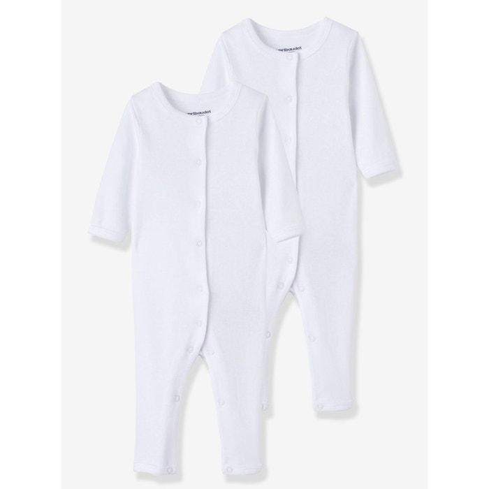 Lot de 2 bodies avec jambes bébé bio collection blanc Vertbaudet ... 26735ca8c33
