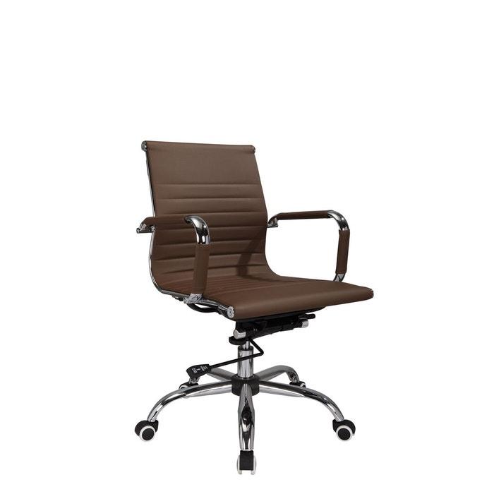 chaise de bureau roulettes marron chocolate herdasa la redoute. Black Bedroom Furniture Sets. Home Design Ideas
