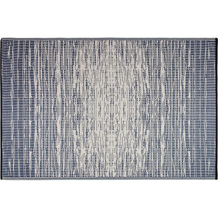 tapis int rieur ext rieur brooklyn bleu fonc bleu jardindeco la redoute. Black Bedroom Furniture Sets. Home Design Ideas