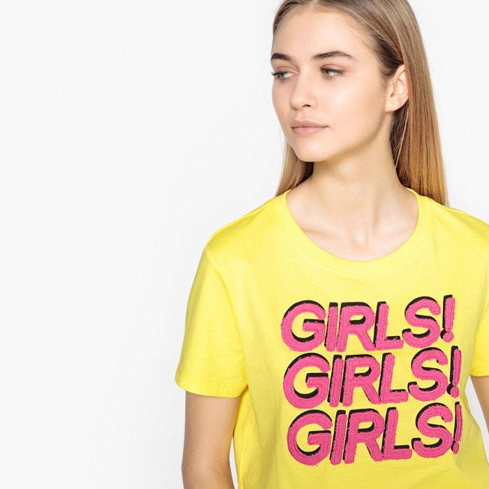 manga cuello estampada corta redondo ONLY Camiseta qwPRA1v