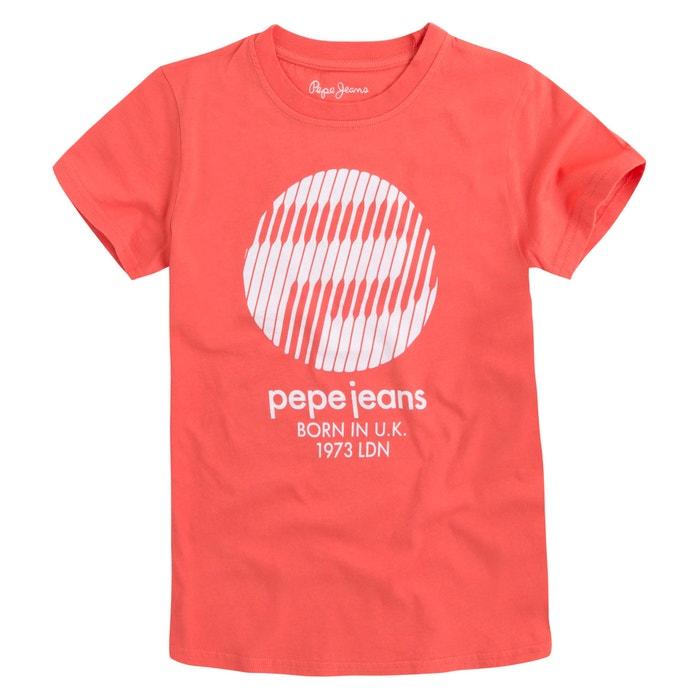 Plain Short-Sleeved Crew Neck T-Shirt  PEPE JEANS image 0