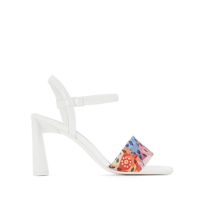 Image Sandales cuir bride imprimé textile Amélie Pichard x La Redoute