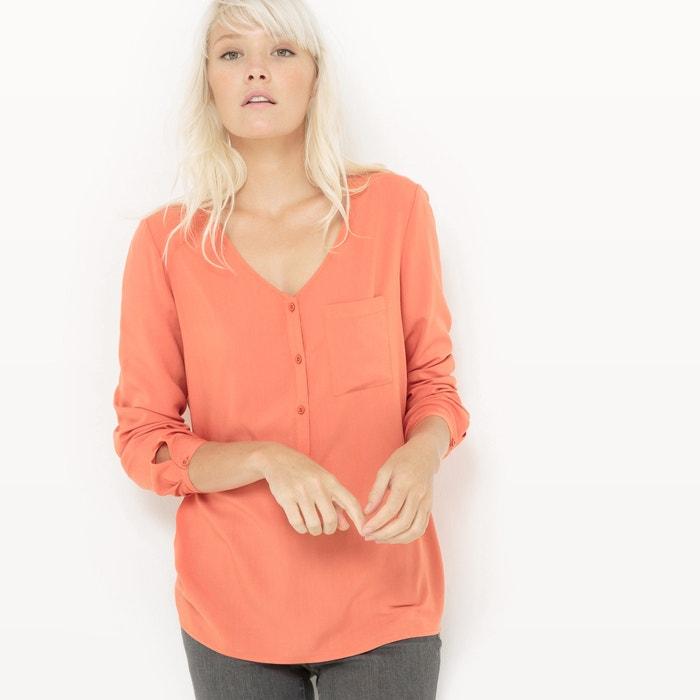 afbeelding Soepele blouse met V-hals en klein zakje R édition
