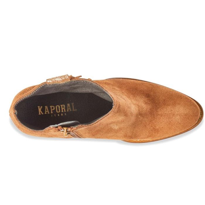 Boots cuir texane camel Kaporal