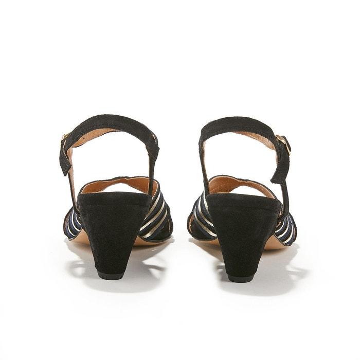 Sandales cuir velours de veau bout ouvert kristine marine Anonymous Copenhagen