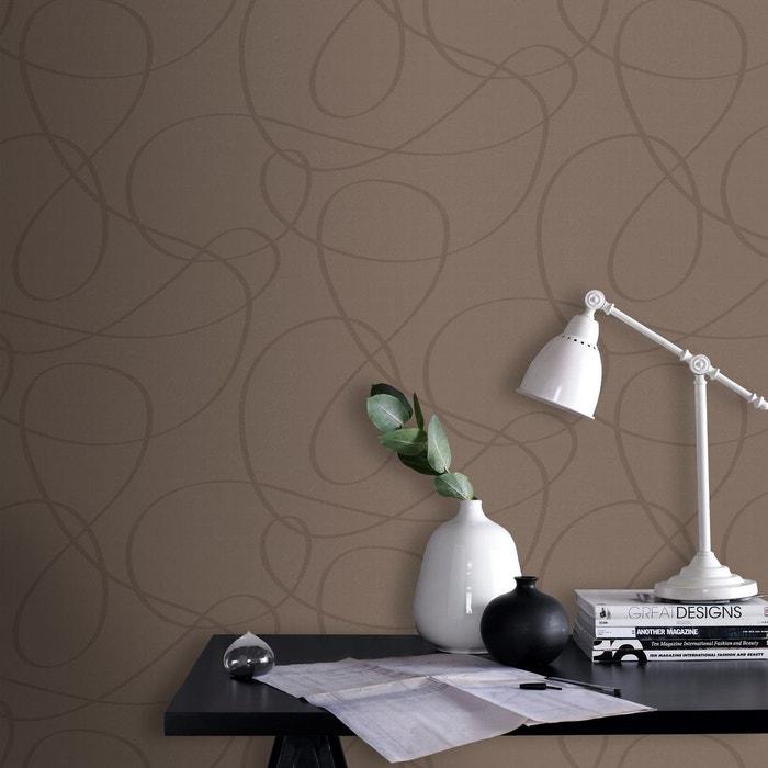 Papier peint intissé fil marron 10 m x 52 cm marron Graham Et Brown ...