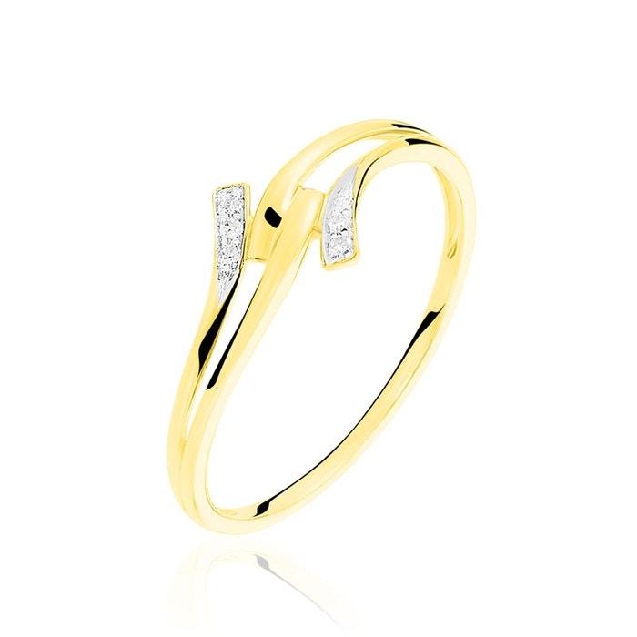 Bague or jaune vagues et diamants blanc Histoire D'or   La Redoute Réduction De 100% Authentique Meilleur Gros À Vendre BvVUs5