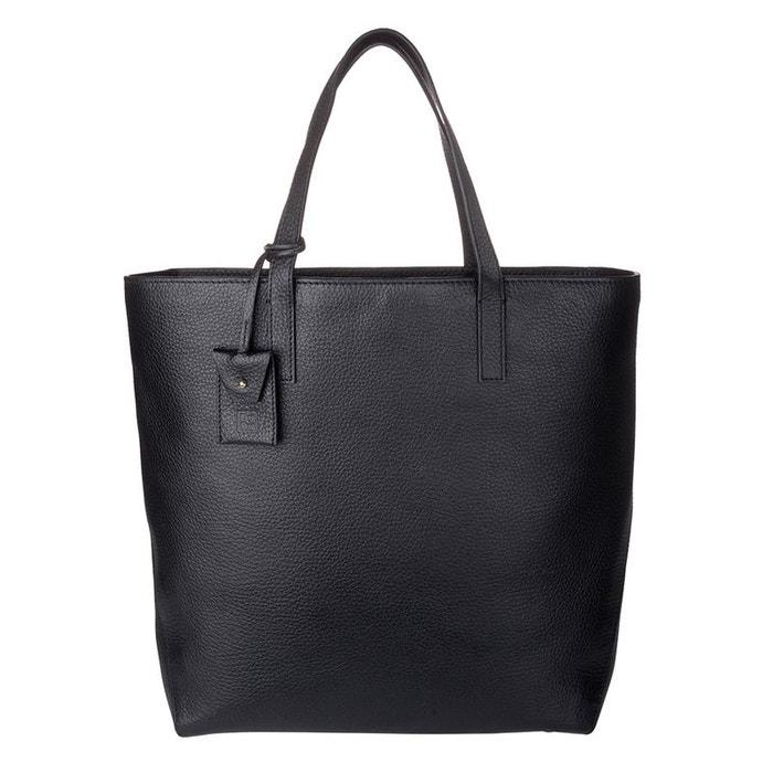 Sac shopping pour femme grand shopper en cuir véritable avec deux poignées sac à bandoulière réglable et amovible Dudu   La Redoute Vente Pas Cher Meilleur Endroit hHzzRzi