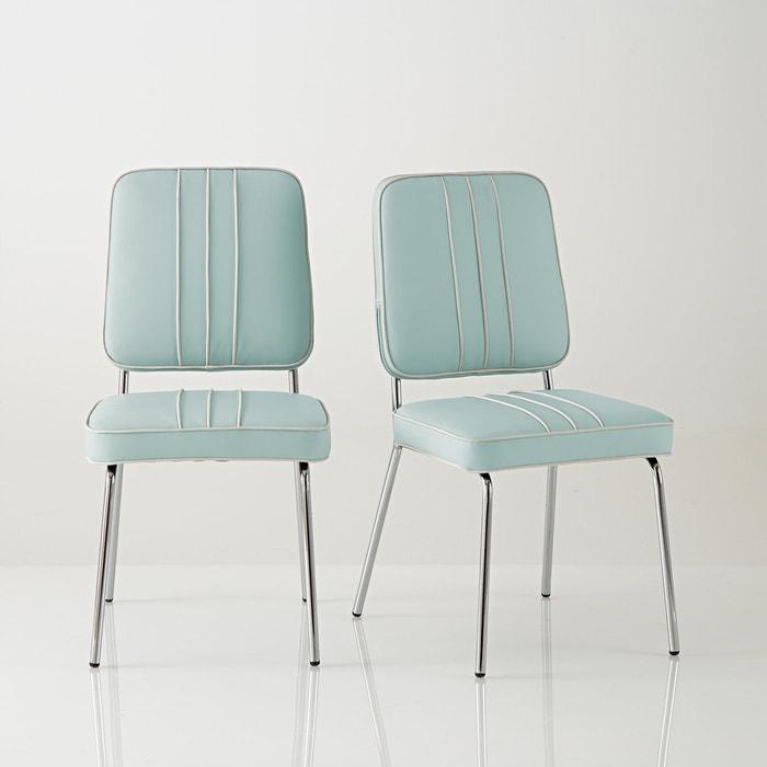 Image Chaise rétro, acier chromé, Horing, lot de 2 La Redoute Interieurs