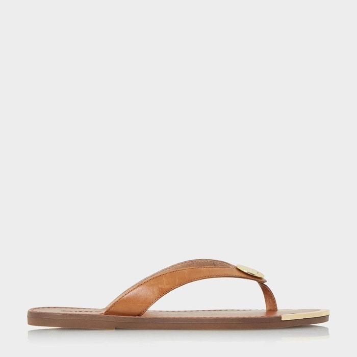 Sandales à entredoigt et disque métallisé Confortable Pas Cher En Ligne Jeu Très Pas Cher À Vendre Vente Au Rabais Vente Recommander A7pevD6