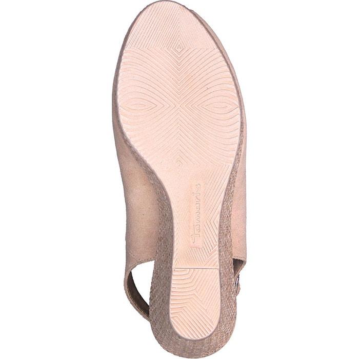 Sandales cuir à talon compensé giove Tamaris