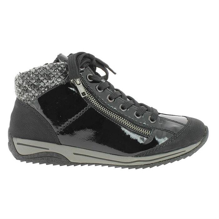 3ec27ce610549 Bottines   boots feutrine noir Rieker   La Redoute