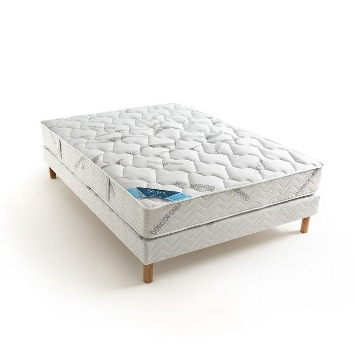 matelas ressorts ensach s grand confort ferme 3 zo blanc gris reverie dos sensible la redoute. Black Bedroom Furniture Sets. Home Design Ideas