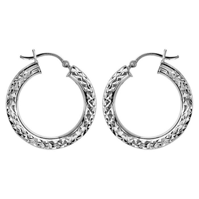 Boucles d'oreilles créoles diamantées ronde diamètre 28 mm extérieur argent 925 couleur unique So Chic Bijoux | La Redoute Manchester KrqXA0NE