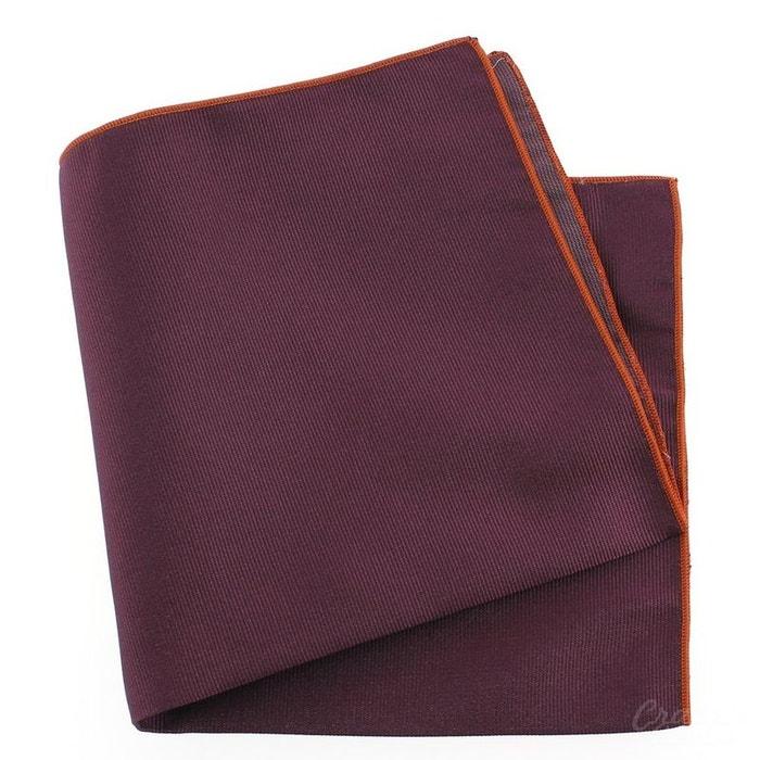 Pochette soie, melanconia, ourlet orange violet Tony Et Paul | La Redoute