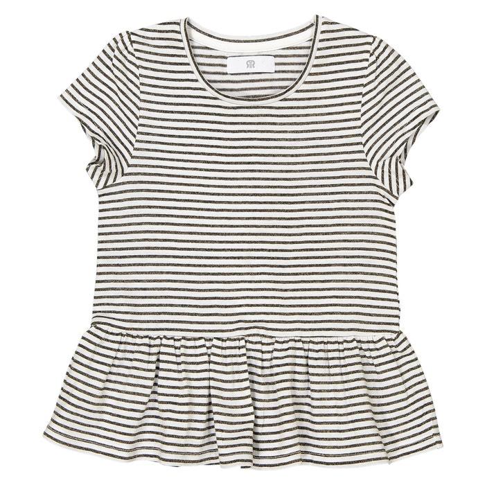 T-shirt con baschina e righe brillanti da 3 a 12 anni  La Redoute Collections image 0