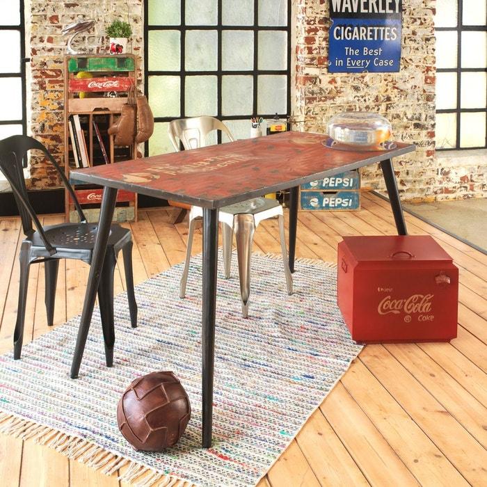 Table A Manger Vintage.Table A Manger Vintage Concue A Partir De Vieux Bidons Metal Odr
