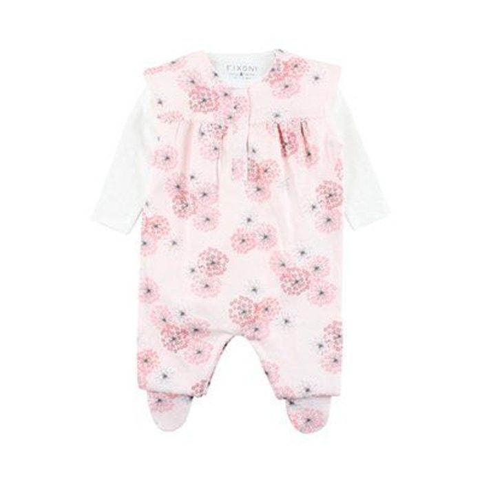 0770547b79982 Fixoni ensemble grenouillère fleurs bébé ensemble bébé rose Fixoni ...