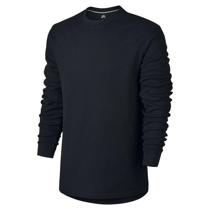 redondo manga NIKE larga lisa cuello Camiseta con qwHrIAgH