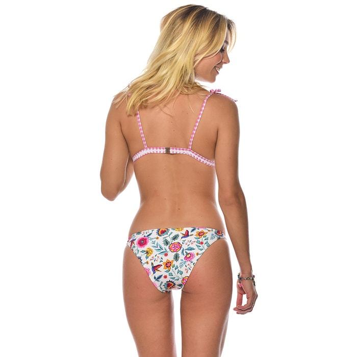 tri 225;ngulos bikini con de BANANA de y forma MOON de estampado Sujetador flores Ingqwt8wH0