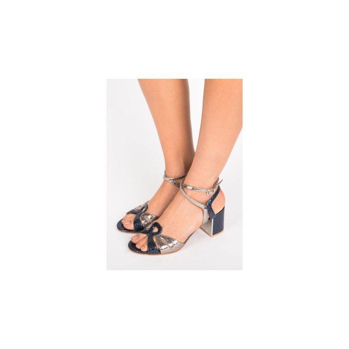 Sandales-brigitte bleu fonce What For