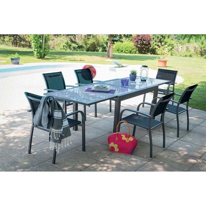 Salon de jardin avec rallonge et fauteuils Home Maison | La Redoute