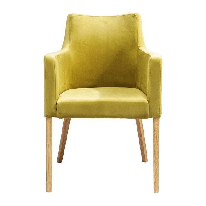 chaise avec accoudoirs mode velours verte kare design vert kare design la redoute. Black Bedroom Furniture Sets. Home Design Ideas