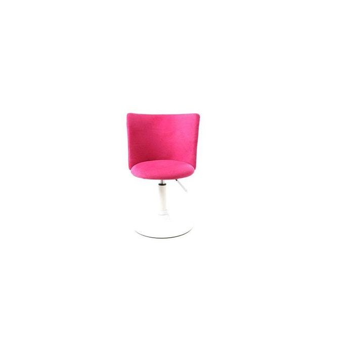 Chaise de bureau enfant rose et blanche new marchande rose Miliboo