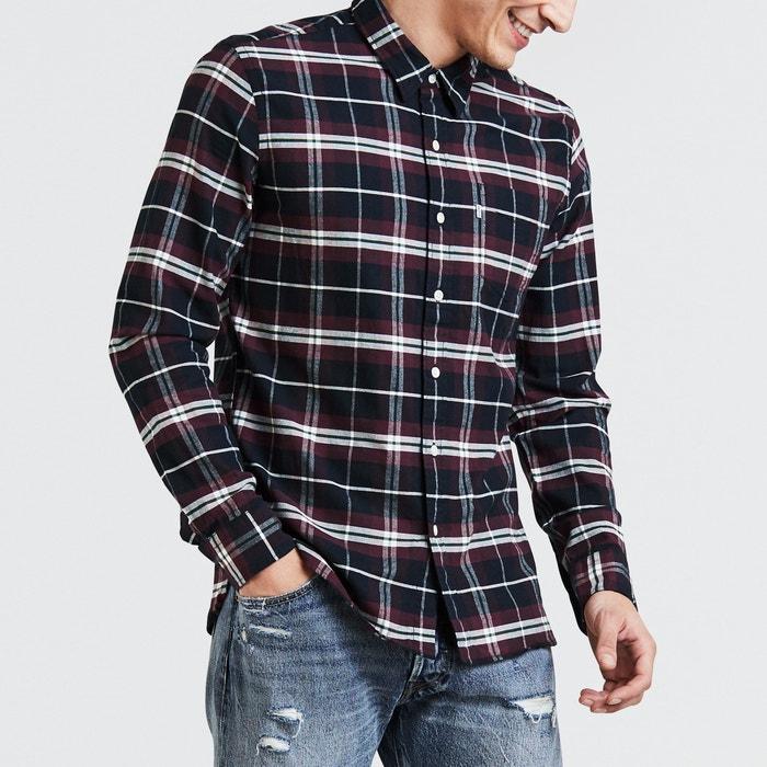 larga LEVI'S recta de Camisa manga TwXHInRHqz