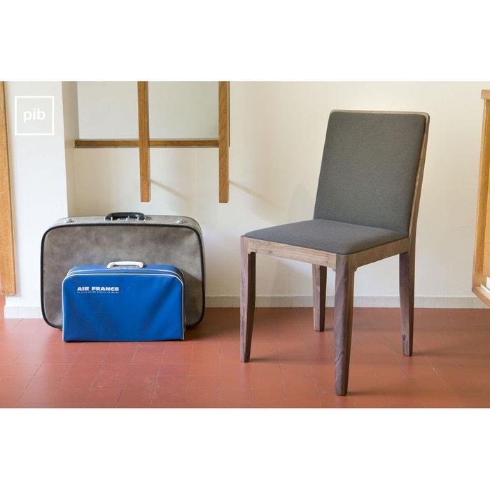 chaise en noyer hem t gris produit interieur brut la redoute. Black Bedroom Furniture Sets. Home Design Ideas