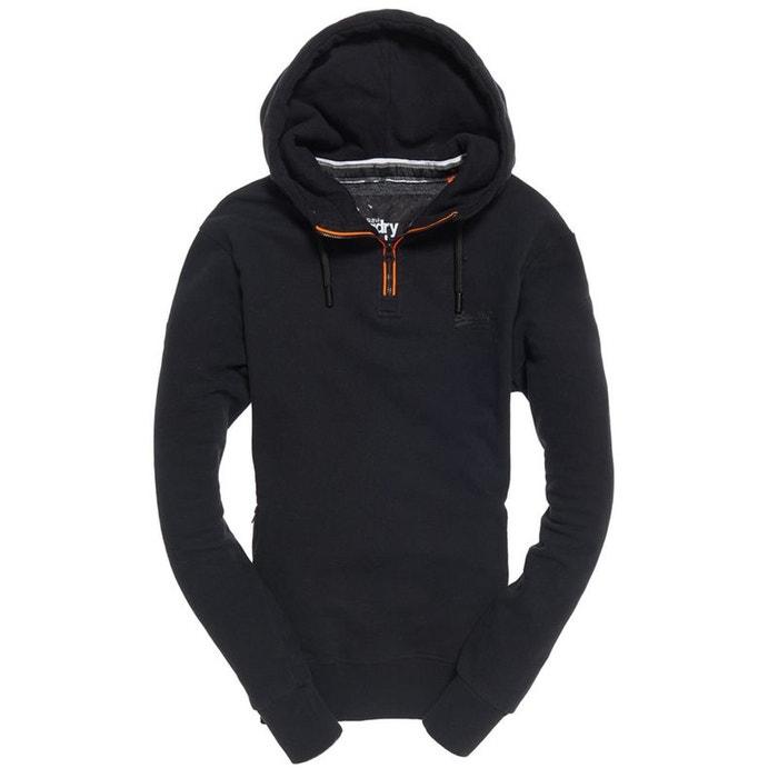 Sweat à capuche à demi zippé urban flash orange label noir Superdry   La  Redoute 56b229c5ab40