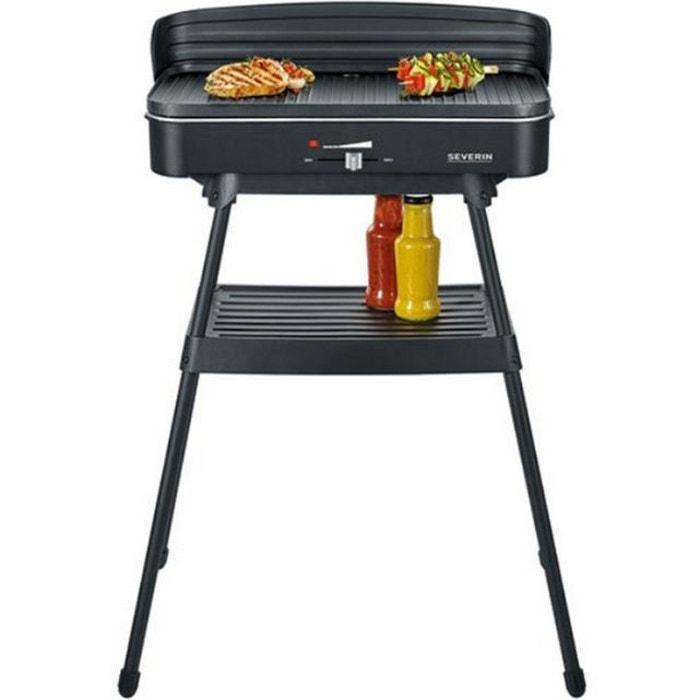 barbecue lectrique sur pieds 2200w pg8533 noir severin. Black Bedroom Furniture Sets. Home Design Ideas