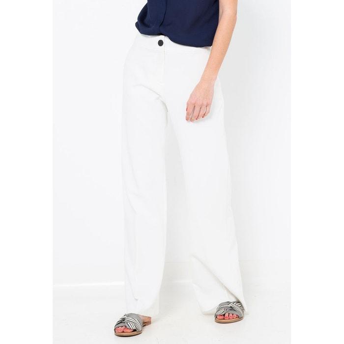 6bad05e091afe Pantalon large taille haute blanc cassé Camaieu   La Redoute