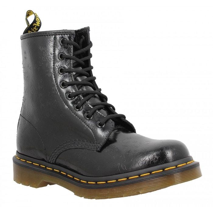 Doc Redoute Chaussures La Martens Noir 1460 W Flowers AUxxdFRqw