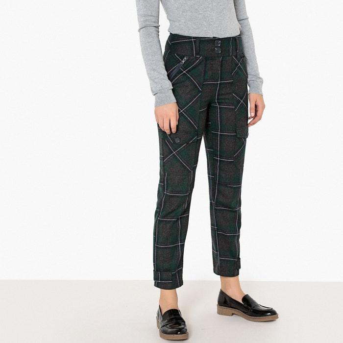 Pantaloni tessuto di lana, multi tasche a quadri  La Redoute Collections image 0