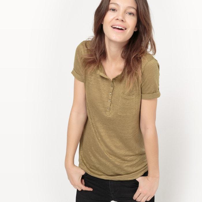 afbeelding T-shirt in linnen, korte mouwen La Redoute Collections
