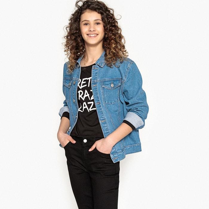 Veste en jean oversize 10-16 ans double stone La Redoute Collections   La  Redoute 7d7c4a3d43fd