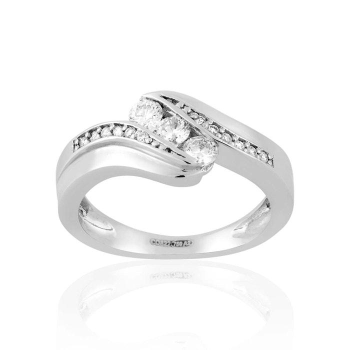 Bague en or 750/1000 blanc et diamant blanc blanc Cleor | La Redoute Où Trouver 9ZMmz