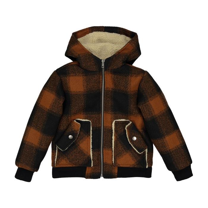 Пальто в крупную клетку 3-12 лет  La Redoute Collections image 0