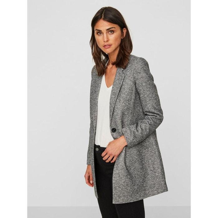 Manteau longue de mi-saison dark grey melange Vero Moda   La Redoute c950195eac1f